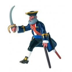 Blue Wooden leg captain