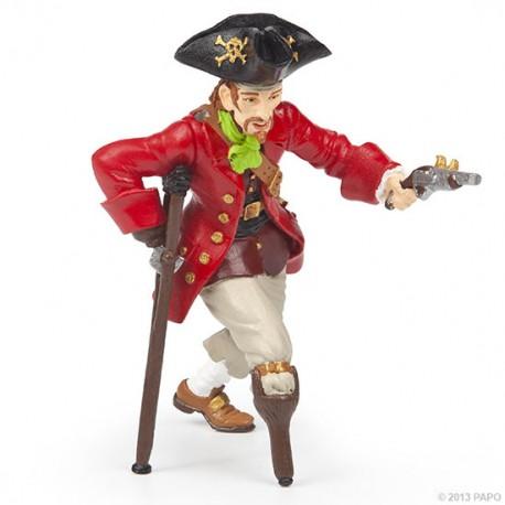 Wooden leg pirate with gun