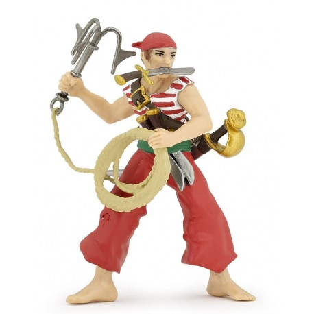 Pirate with grapnel