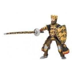 Roi Richard à la lance noir et or retraité