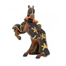 Cheval roi Richard à la lance noir et or