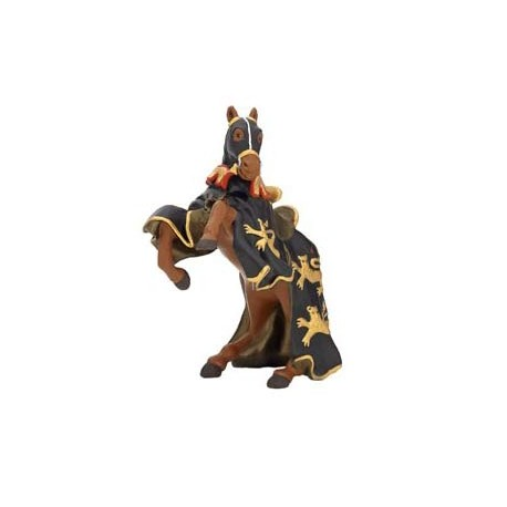 Cheval roi Richard à la lance noir et or***