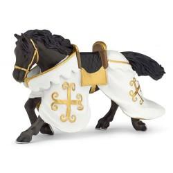 Cheval du chevalier cotte de maille retraité
