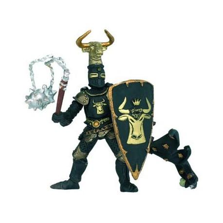 Maître des armes cimier taureau noir et or