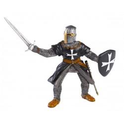 Hospitaller  knight  with sword black