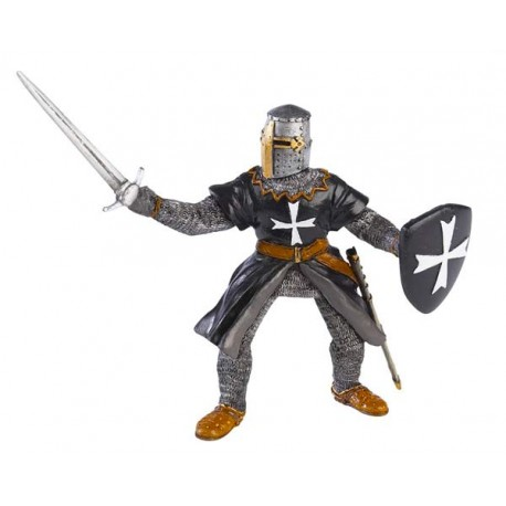 Hospitaller  knight  with sword black (old 39926)