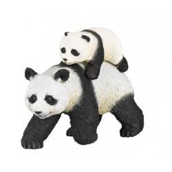 Panda et son bébé