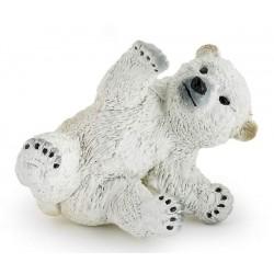 Bébé ours polaire jouant