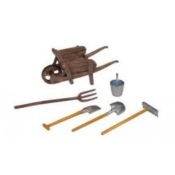 La brouette et ses outils