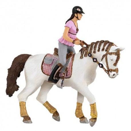 Braided mane horse