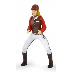Trendy riding girl red