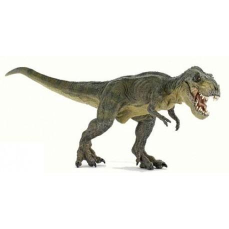 Green running T-Rex