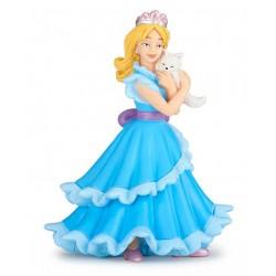 Princesse bleue au chat