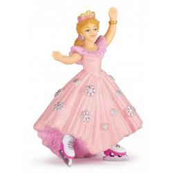 Pink princess with ice skates