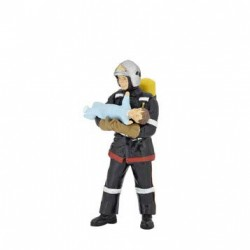 Fireman with baby