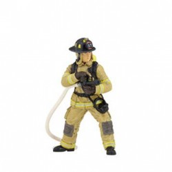 YELLOW U.S. FIREMAN WITH HOSE - discontinued 2013