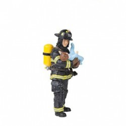 U.S. FIREMAN WITH BABY - discontinued 2013