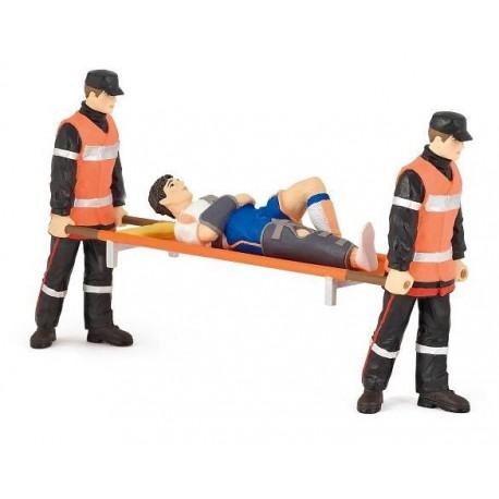 Paramedics and injured man***