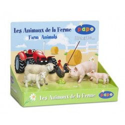 Boîte présentoir animaux de la ferme 1 (5 fig.) (Verra