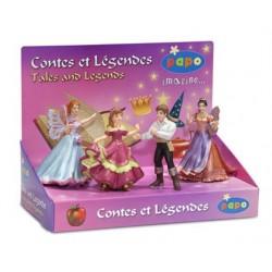 Boîte présentoir contes & légendes 1 (4 fig.) (Reine d