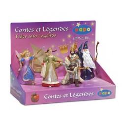 Boîte présentoir contes et légendes 2 (4 fig.) (Reine,