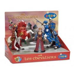 Boîte présentoir chevaliers 2 (5 fig.) (Reine médiéval