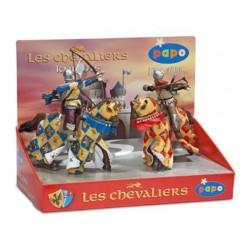Boîte présentoir chevaliers 3 (4 fig.) (Archer bleu, a