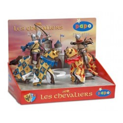 Display box knights 3 (4 fig.) (Bowman blue, crossbowm