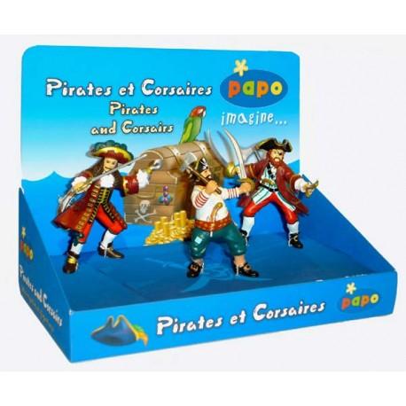 Boîte présentoir pirates et corsaires (3 fig.) (Capita