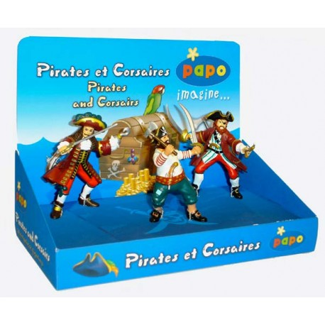 Display box Pirates and Corsairs (3 fig.) (Captain cor