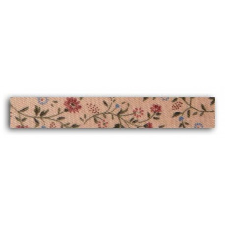 ADHESIVE FABRIC RIBBON 5M  ROSES PEACH