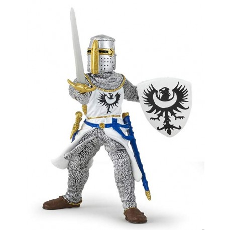 White knight with sword