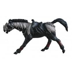 Cheval noir fantastique retraité