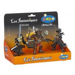 Boîte présentoir fantastiques (3 fig.) (Pirate tête de
